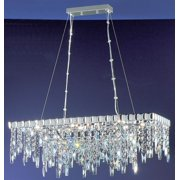 13 in. Uptown Chandelier in Chrome Finish (Crystalique)