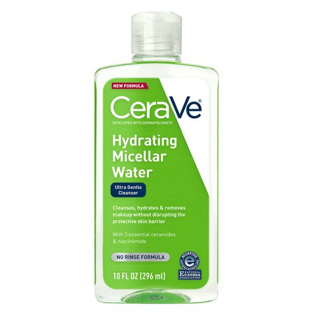 CeraVe Hydrating Micellar Face Cleansing Water & Makeup Remover, 10