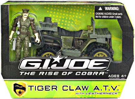 """GI Joe The Rise of Cobra Tiger Claw ATV 3.75"""" Action Figure Vehicle by"""