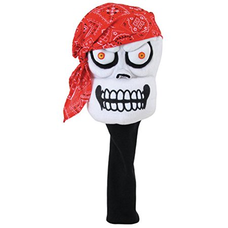 Designs- Pirate Bandana Headcover, Fits 460cc Drivers- Traditional and Geometric. By Winning - Winning Edge Hybrid Headcovers