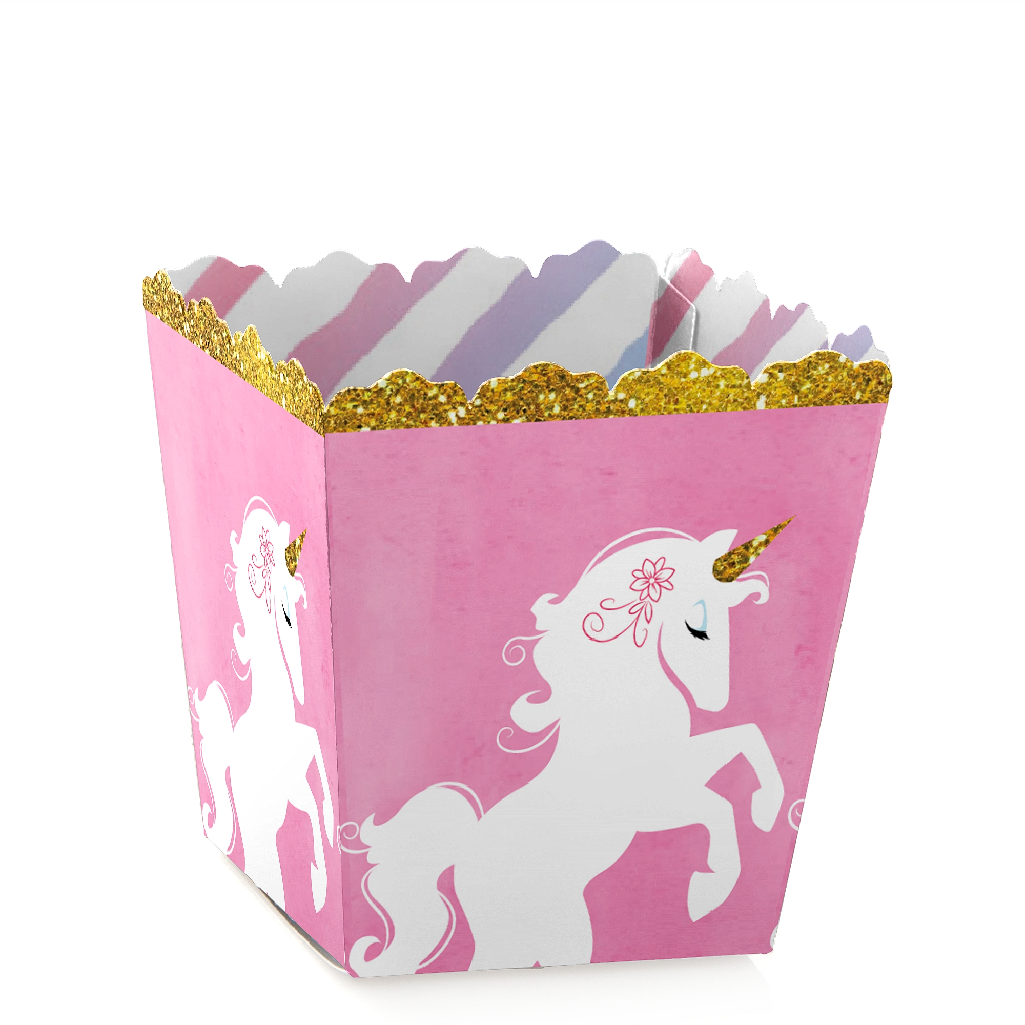 Rainbow Unicorn - Party Mini Favor Boxes - Magical Unicorn Baby Shower or Birthday Party Treat Candy Boxes - Set of 12
