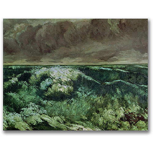"Trademark Fine Art ""The Wave, After 1870"" Canvas Wall Art by Gustave Courbet"