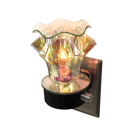 - Decorative Silver Iridescent Night Light Oil Warmer