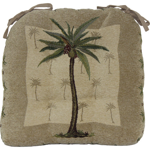 Palm Tree Woven Chairpad, Set of 4