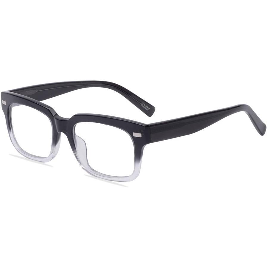 Pomy Eyewear Mens Prescription Glasses, Romane Black Mist