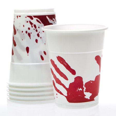 Bloody Halloween Party 16 oz. Plastic Cups, 50 per - Halloween Capes