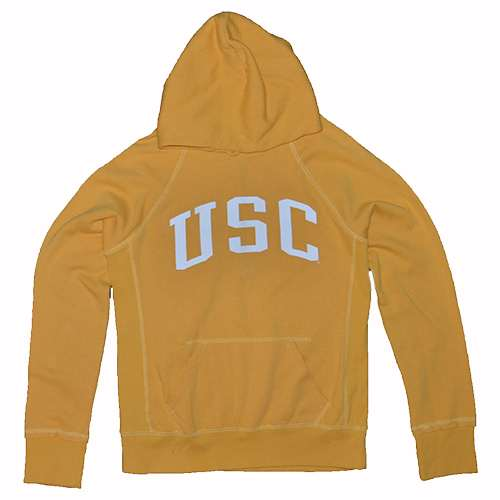 Usc Trojans Ladies Hoody By League - Yellow