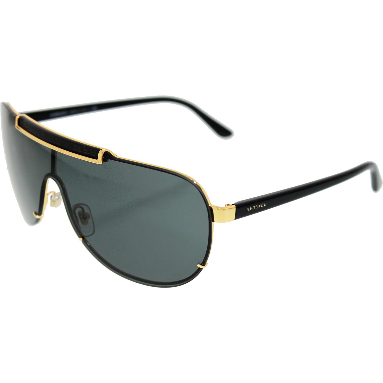 f48ebba6f96 Versace Men s VE2140-100287-40 Gold Aviator Sunglasses