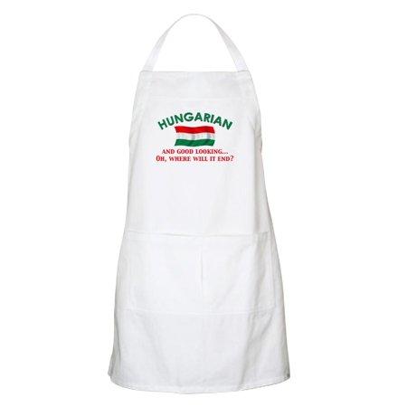 CafePress - Good Lkg Hungarian 2 BBQ Apron - Kitchen Apron with Pockets, Grilling Apron, Baking Apron