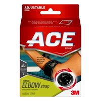 ACE Brand Elbow Strap with Custom Dial System, Adjustable, Black, 1/Pack