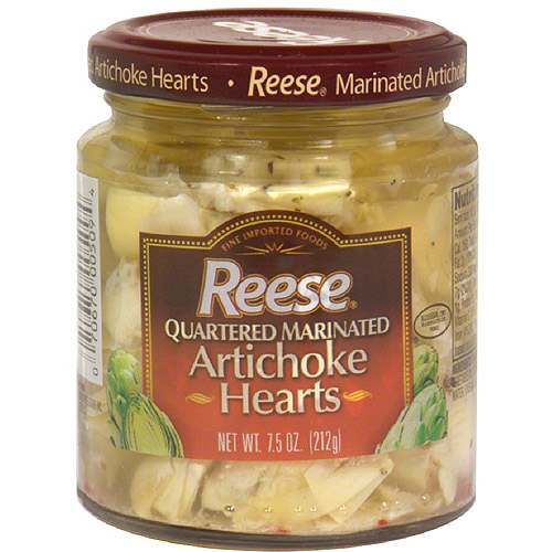 Reese Quartered Marinated Artichoke Hearts, 7.5 oz (Pack of 12)