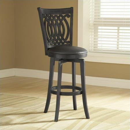 Van Draus Swivel 30u0022 Barstool Metal/Black - Hillsdale Furniture