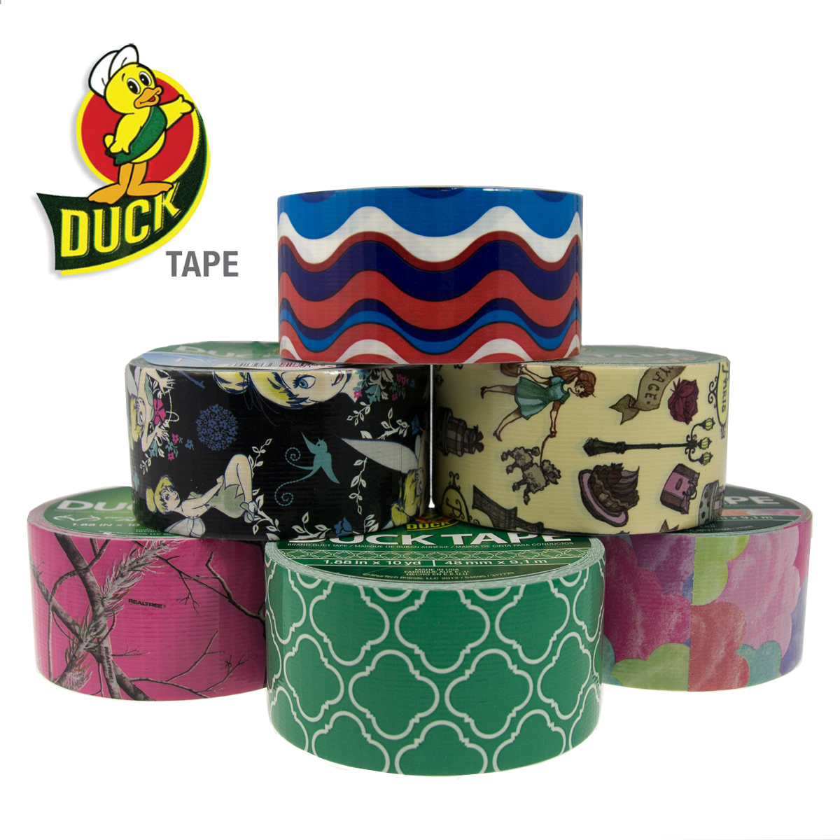 Duck brand duct tape rolls