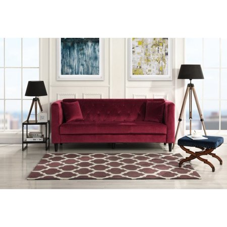 Mid Century Style Living Room Sofa Couch, Tufted Buttons, Velvet ...