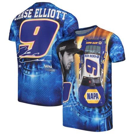 Chase Elliott T Shirt >> Chase Elliott Sublimated Driver T Shirt Blue