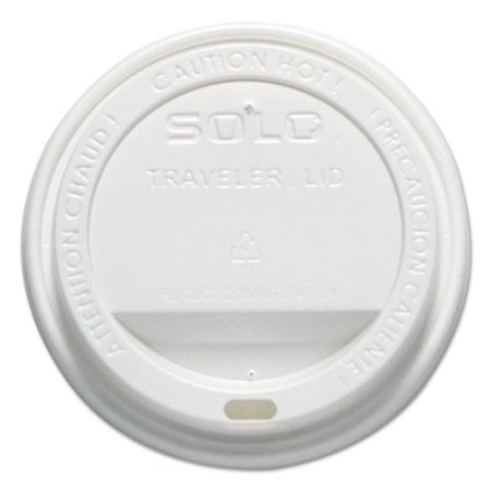 Solo Cup Company OFTL160007 Traveler Drink-Thru Lid, White - 12-16 oz. (Lids For Solo Cups)