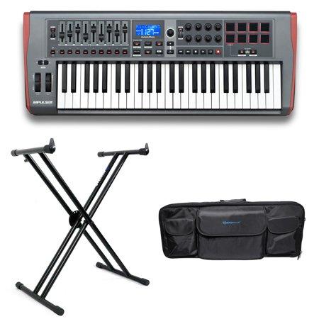 Novation IMPULSE 49-Key USB MIDI Keyboard Controller+Stand+Carry