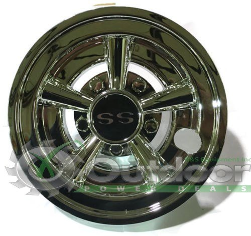 GOLF CART SS HUB CAPS FITS YAMAHA CLUB CAR EZ-GO PAR CAR HUBCAPS 8""