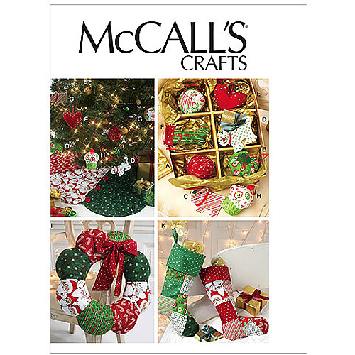 McCall's Pattern Ornaments, Wreath, Tree Skirt and Stocking, 1 Size Only