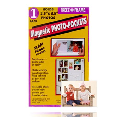 Freez-A-Frame Magnetic Photo Pocket 2.5 x 3 .5 (Wallet size) 1 Pack (32302)
