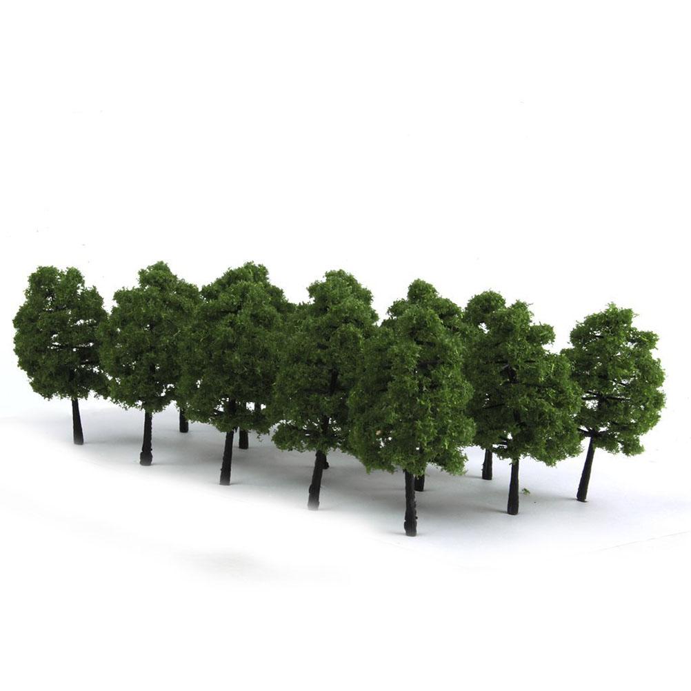 20pcs 9CM Scenery Landscape Model Tree (Dark Green) by