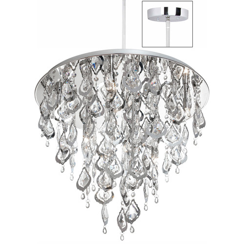Dainolite Silhouette 8 Light Crystal Chandelier