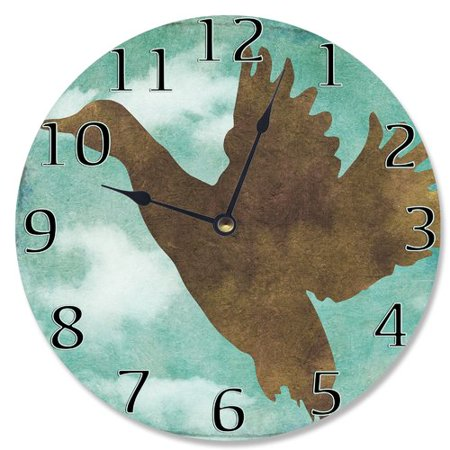 Stupell Industries 12'' Duck Silhouette Vanity Clock