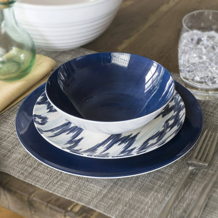 Better Homes & Gardens Outdoor Melamine Navy Glaze Cereal Bowl, Set of 4
