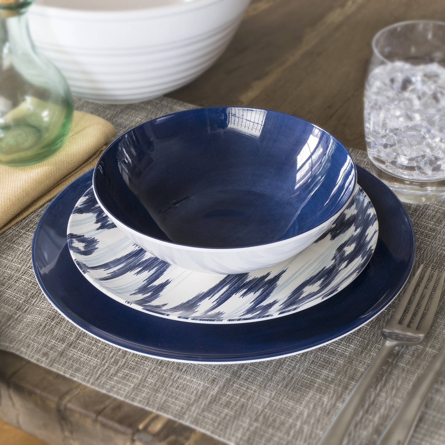Better Homes and Gardens Navy Glaze Melamine Cereal Bowl, Set of 4