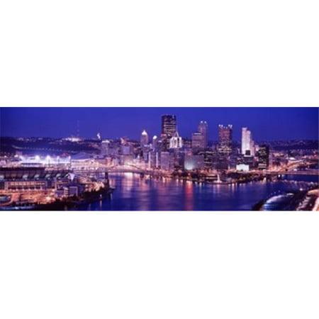 Images panoramiques PPI88185L Etats-Unis Pennsylvanie Pittsburgh au cr-puscule d'affiche par images panoramiques - 36 x 12 - image 1 de 1