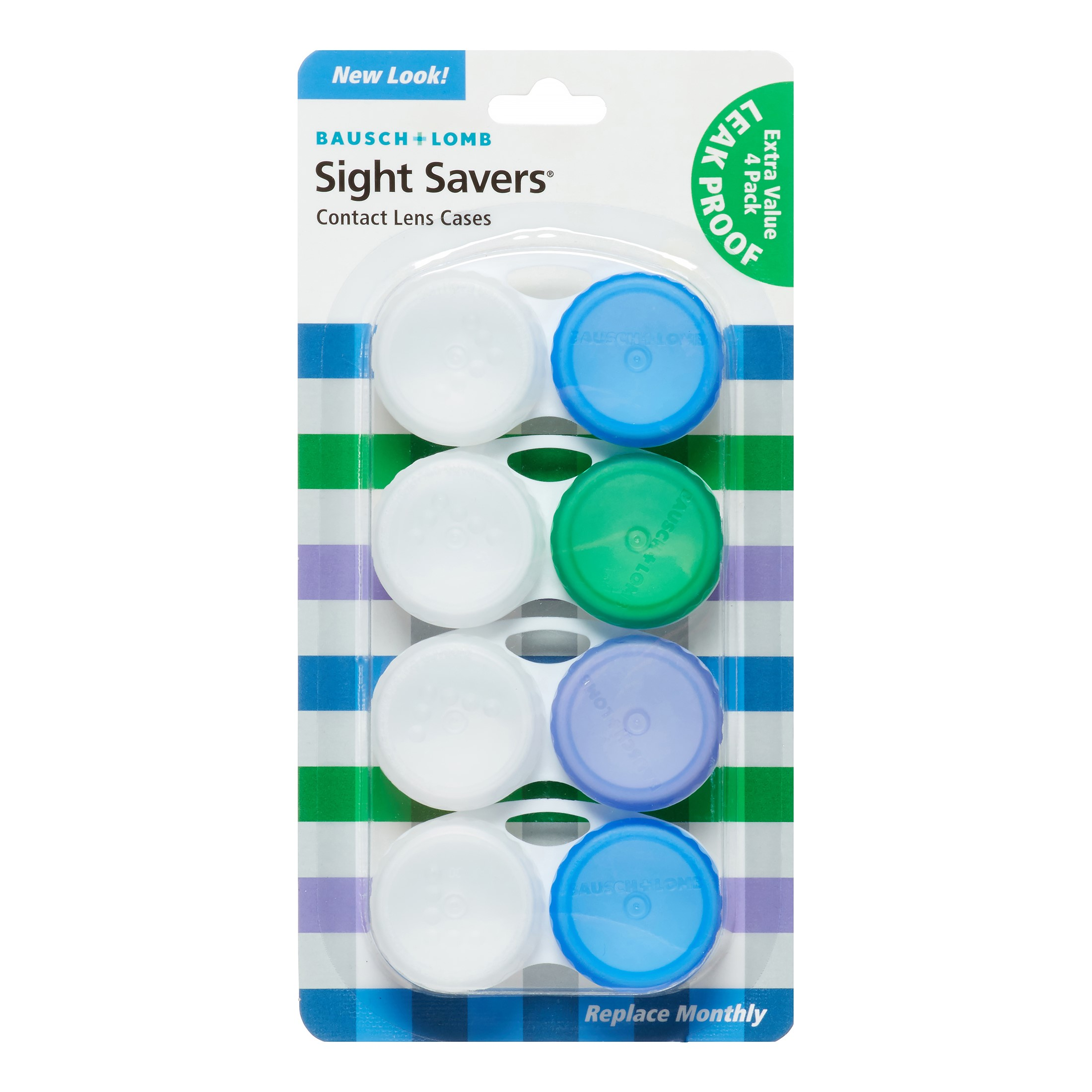 Bausch And Lomb Lens Cases, Blue, 4 Ct