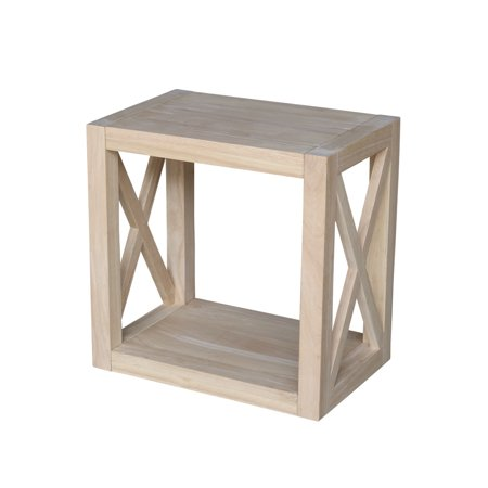 Unfinished Wood End Table (Hampton Solid Wood Unfinished Narrow End Table )