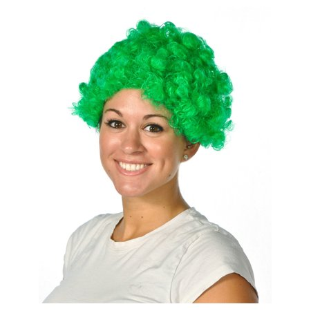 Green Costume Wigs (Mens Womens Child Costume Green Afro Umpa Lumpa St Patricks Day)
