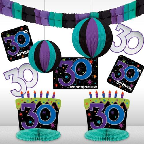 The Party Continues 30th Birthday Decorating Kit - Party Supplies