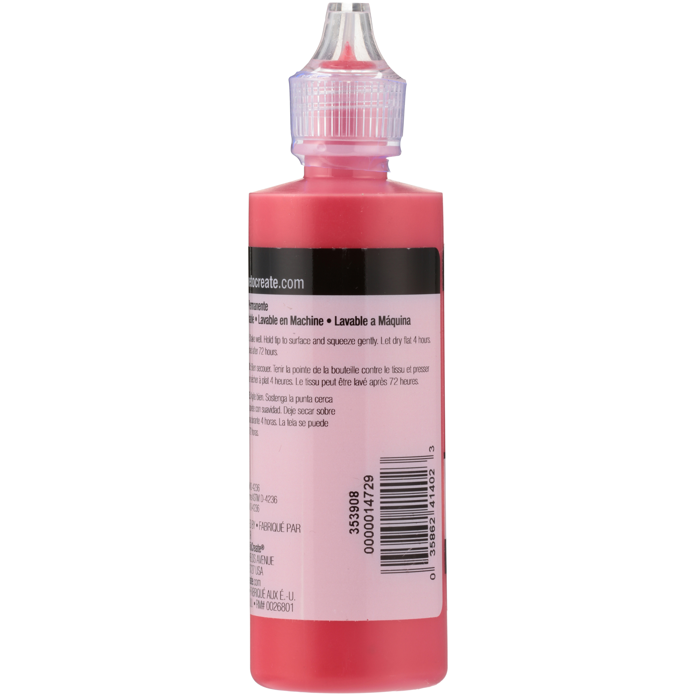 Tulip Slick Deep Red Dimensional Fabric Paint 4 Fl Oz Squeeze