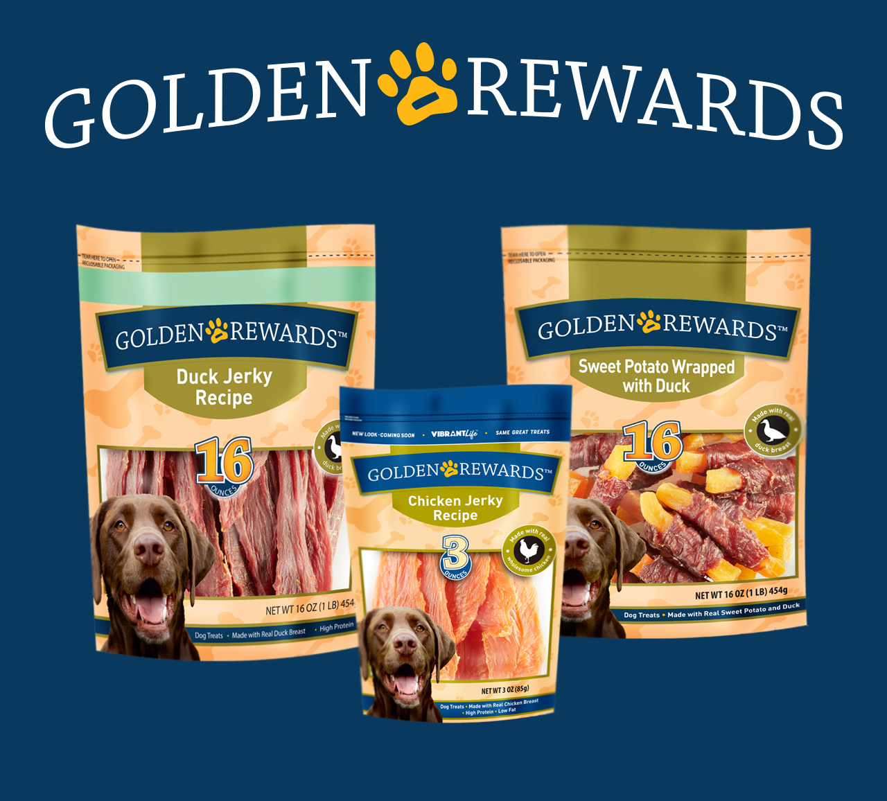 Shop Golden Rewards Dog Treats!