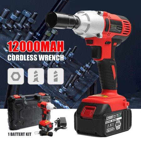 98v 12000mah Lithium Ion Cordless Electric Impact Wrench Brushless Motor Tools