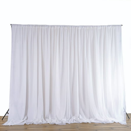 BalsaCircle 20 ft x 8 ft Fabric Backdrop Curtain - Wedding Party Photobooth Ceremony Event Photo Decorations - 8 Ft Curtains