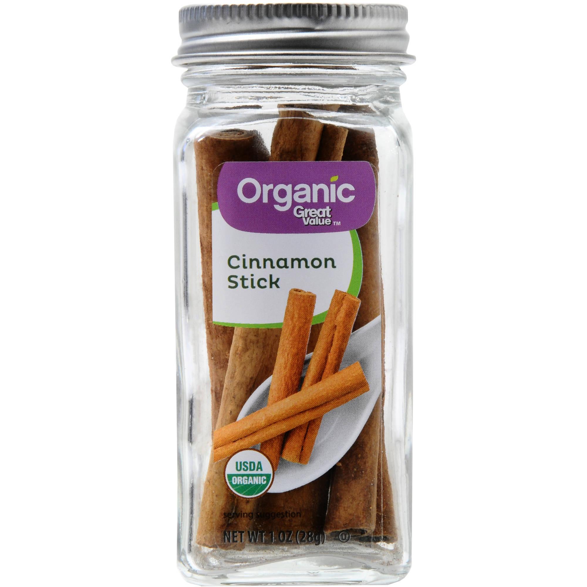 (2 Pack) Great Value Organic Cinnamon Sticks, 1 oz
