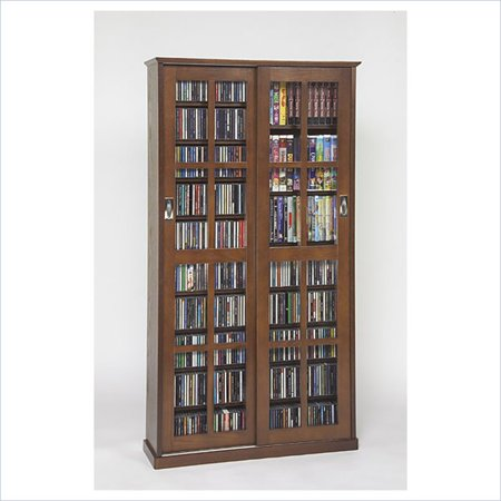Leslie Dame CD/DVD Wall Rack Multimedia Cabinet in (Lovan Audio Racks)