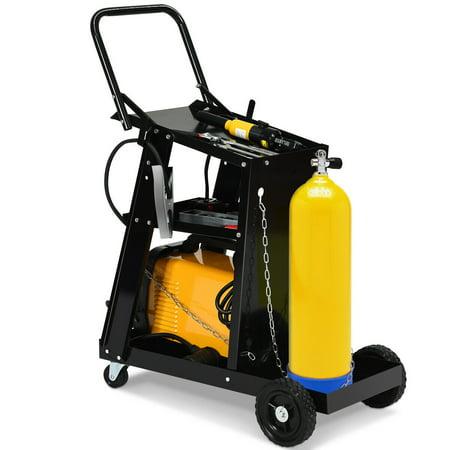 093fd9002193 Gymax 3-Tier Welding Cart Plasma Cutter Welder MIG TIG ARC Universal ...