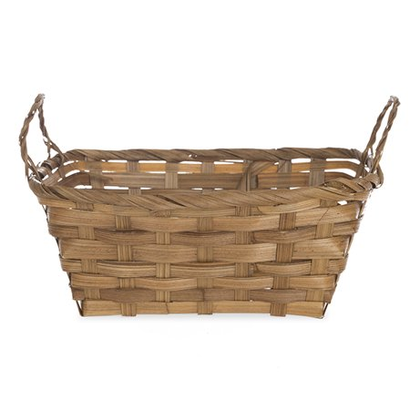 Rectangular Bamboo Utility Basket with Ear Handles - 8in