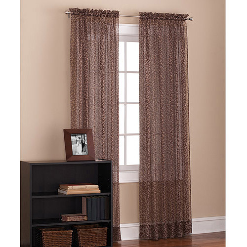 Mainstays Leopard Print Voile Sheer Drapery Panel