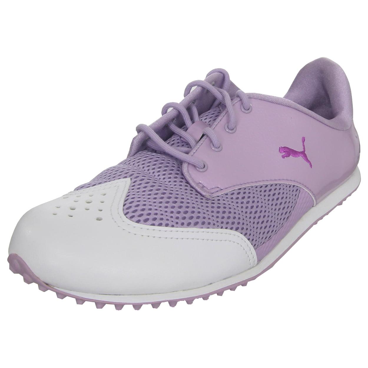 Puma Women's Summercat Golf Shoe, 5.5 Medium White/Lavend...