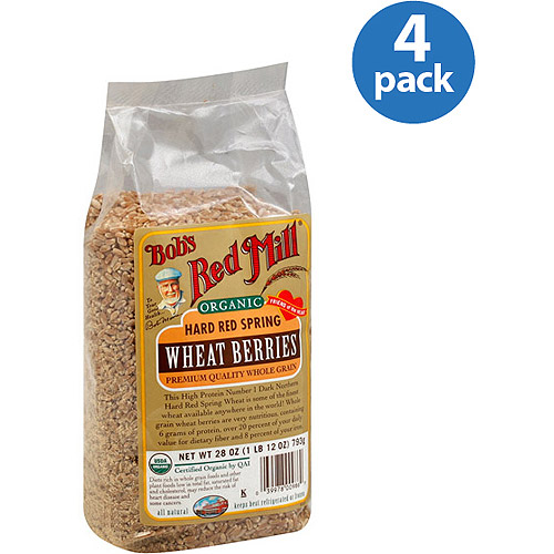 Bob's Red Mill Organic Hard Red Spring Wheat Berries, 28 oz (Pack of 4)