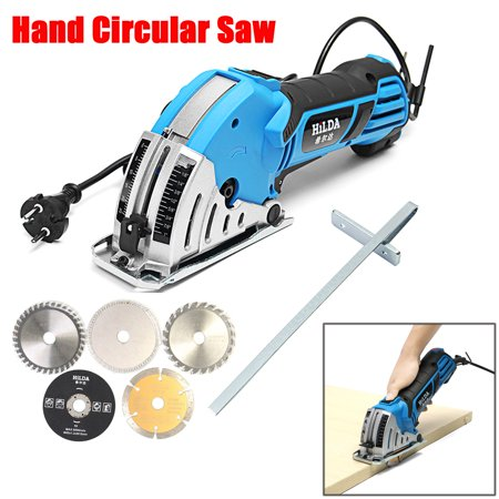 "500W Electric Circular Saw with 6 Blades(0.6""-3.4""), Laser Guide, 0-1.06"" Cutting capacity , Ideal for Glass Wood, Soft Metal, Tile and Plastic Cuts  - image 1 de 15"