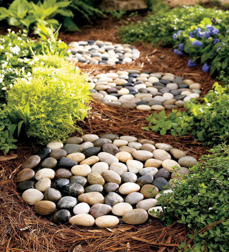 River Rock Stepping Stones, Set of 3 by Problem Solvers