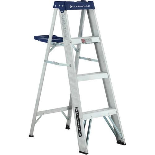 louisville ladder 4 aluminum ladder   walmart