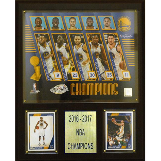 C & I Collectables 1215NBA17 12 x 15 in. NBA Golden State Warriors 2016-2017 NBA Champions Plaque