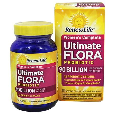 Renew Life   Ultimate Flora Womens Complete Probiotic 90 Billion   60 Capsules